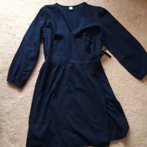 Old Navy Wrap Dress Navy